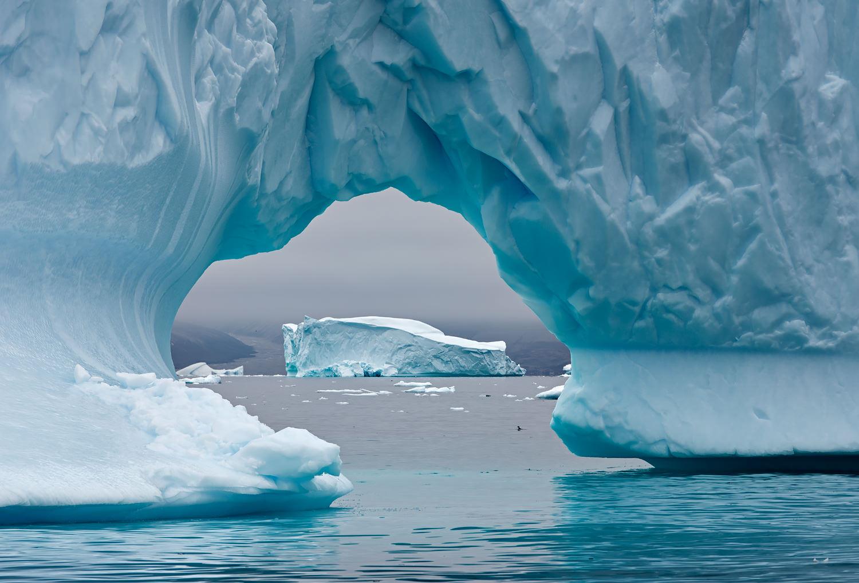Watching Icebergs Through Icebergs