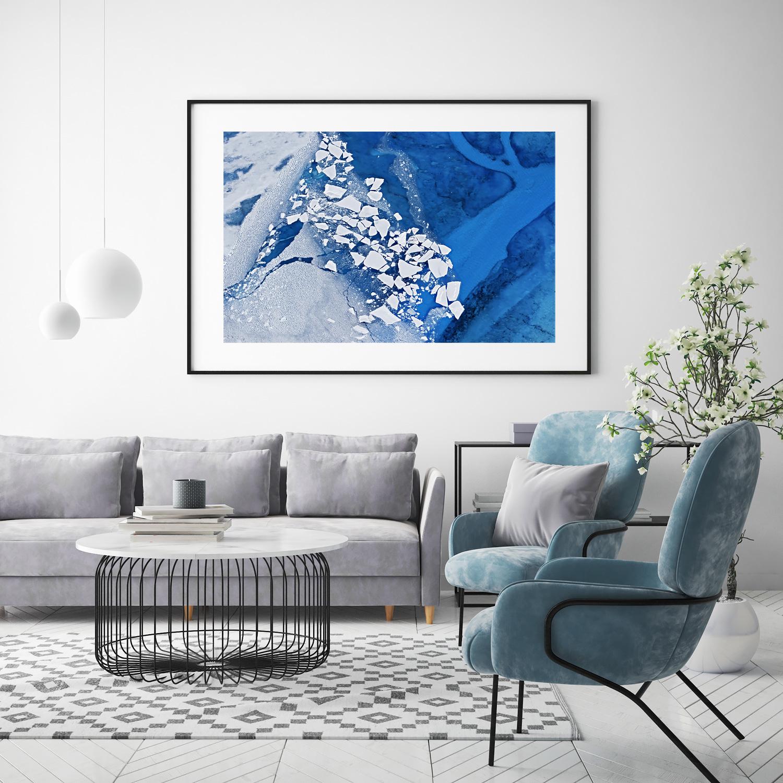 "Photo: ""Water & Ice"" -Inspirational example / Präsentationsbeispiel (Background image /Hintergrundbild:© mtlapcevic / Adobe Stock)"