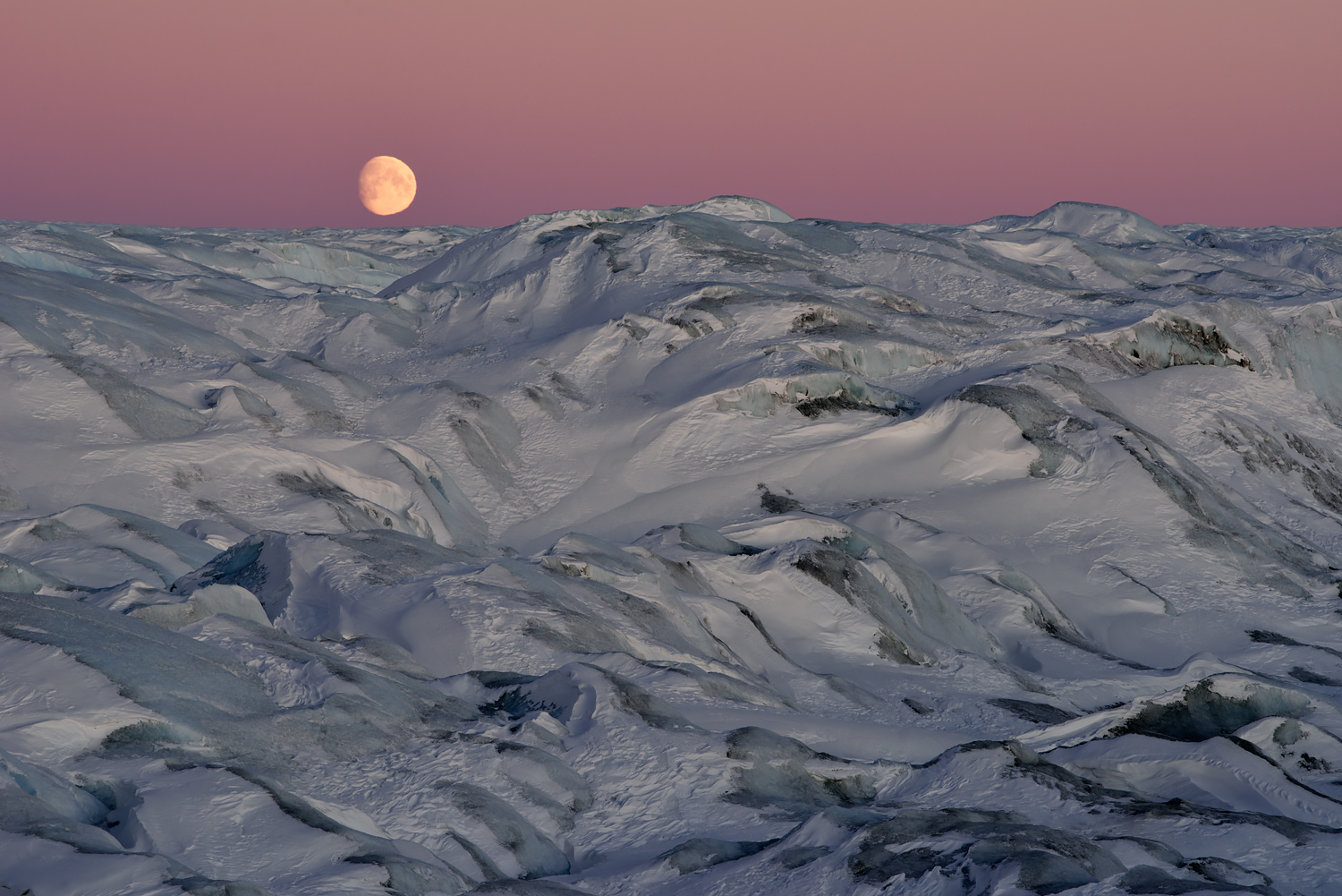 Moon Over The Icecap