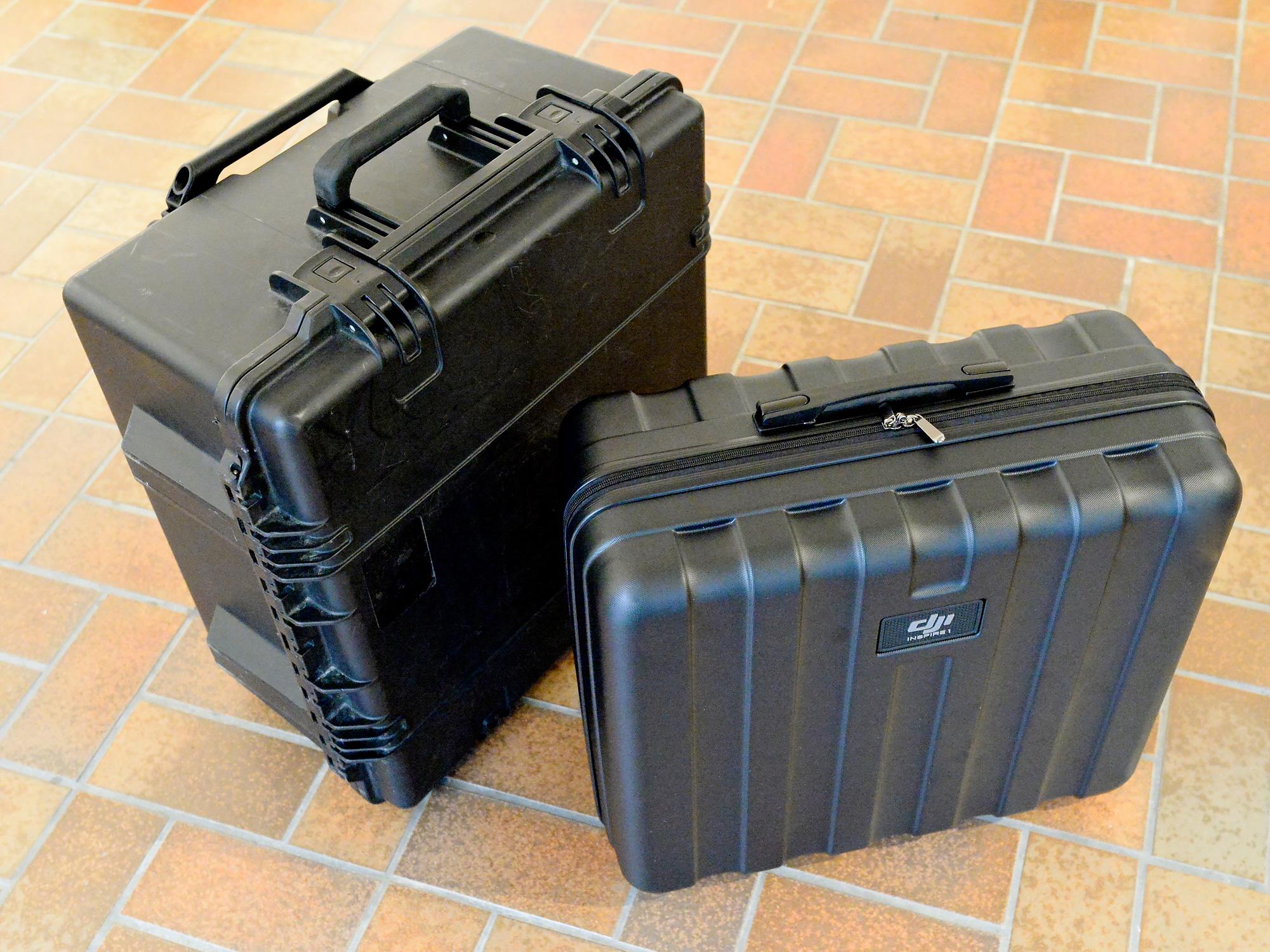 Das Peli Storm Case IM2875 und der DJI Inspire 1 Koffer