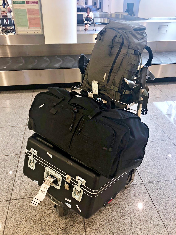 Reisen mit leichtem Gepäck.