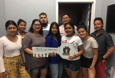 Bijay (far right) with other apprentices and interns at Escape Room KC.