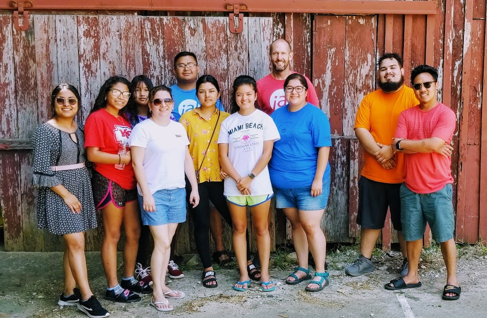 Ashley (second to the left) with other interns and apprentices at our last retreat for the summer.