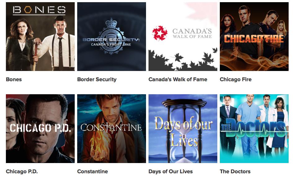 Canadian TV - Global TV Show LineUp 2