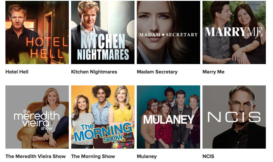 Canadian TV - Global TV Show LineUp 4