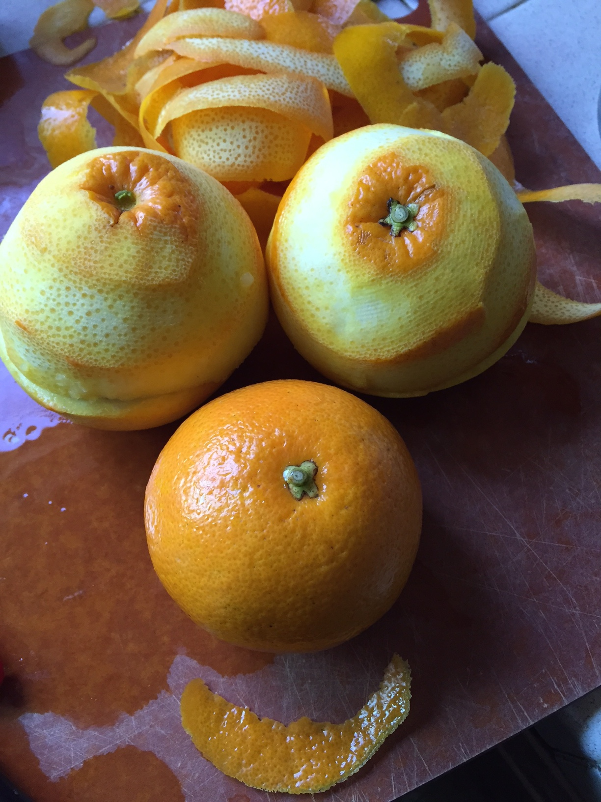 Maike's Seville Orange prep for marmalade