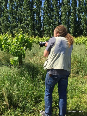 Peter Canon, renowned photographer, photographs the farm for an expo in Milan this summer.