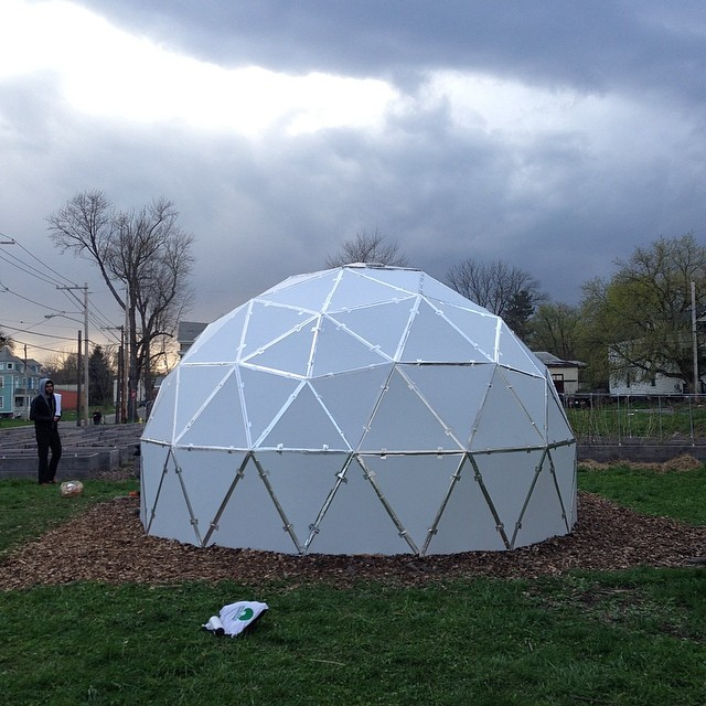 It's a #geodome ! #wildercompound