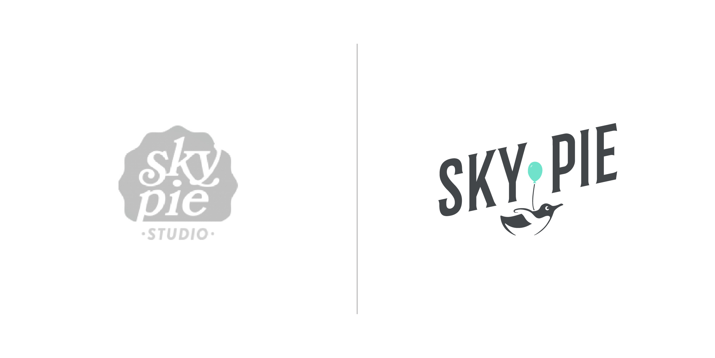 The client — Sky Pie Studios are purveyors of stop motion, animation, cinemagraphs, live action, and photography based in Brooklyn New York.  The goal — To craft a logo for Sky Pie that conveys its sense of playfulness and whimsy. We accomplished this by creating a delightful character for the brand in the form of an adorable penguin determined to take flight. As an animation studio it was also essential for the logo to have an element of motion. This was cleverly developed by Sky Pie to have the penguin subtly rotate and occasionally flap his wings — bringing the design to life even more!