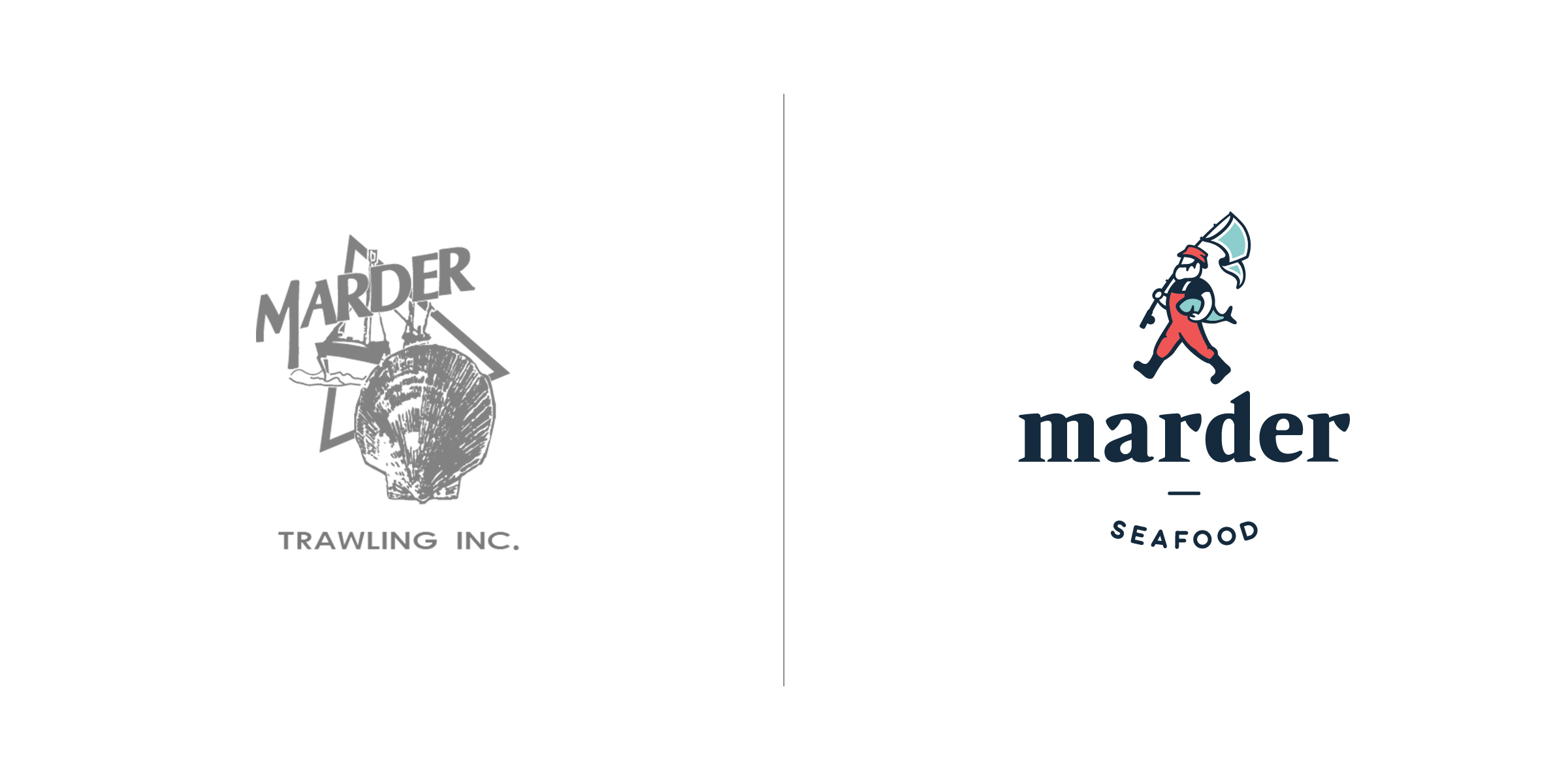 The client —   Marder Brands   The goal — To accurately reflect a forward thinking family business supporting salty, hard working fisherman who catch sustainable seafood off the cold north Atlantic waters.
