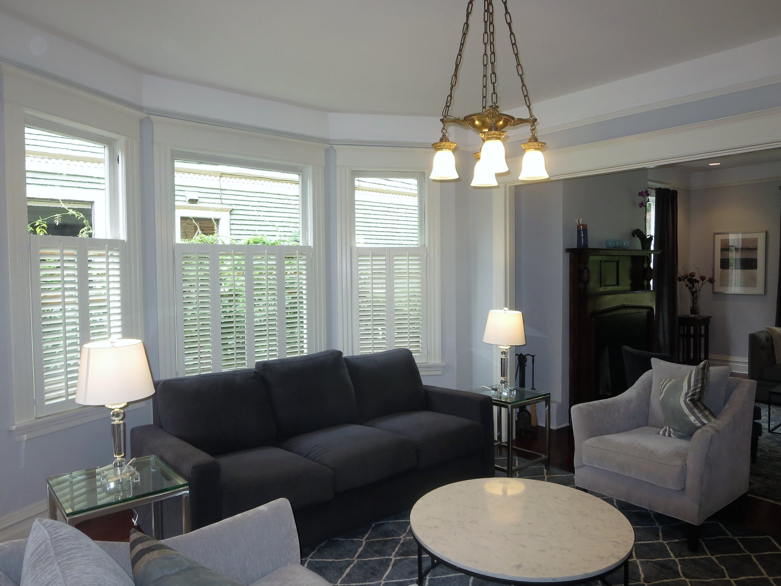Utilizing Cafe Shutters To Add Design Flair In A Living Room Newport Custom Shutters