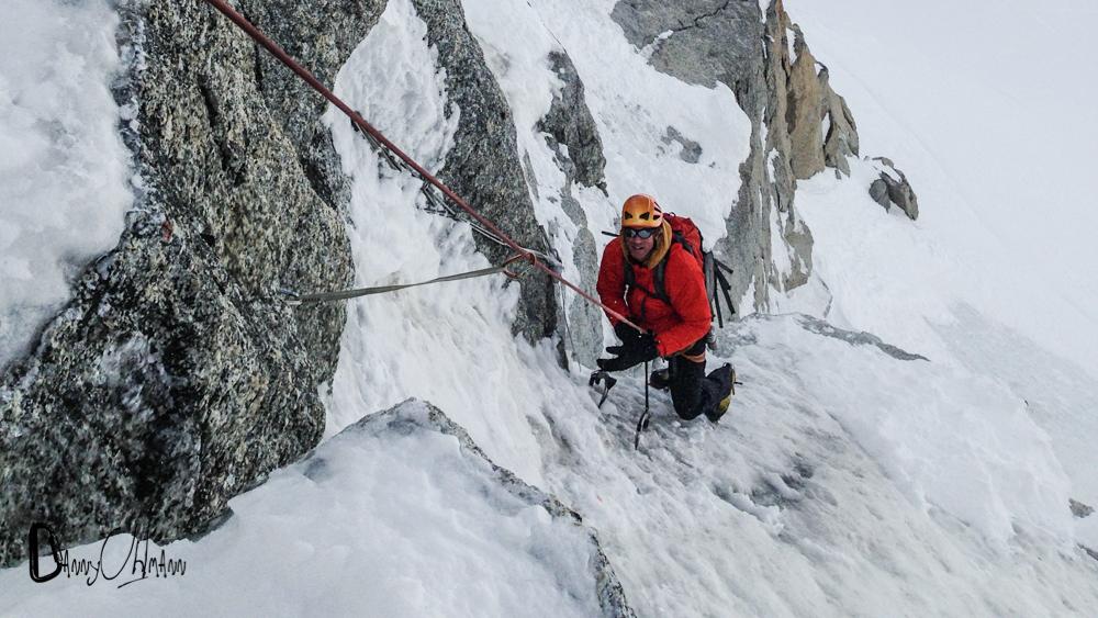 Alpine ice on the Mont Blanc du Tacul