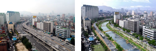 From Freeway to River: The Cheonggyecheon River in Seoul Korea.