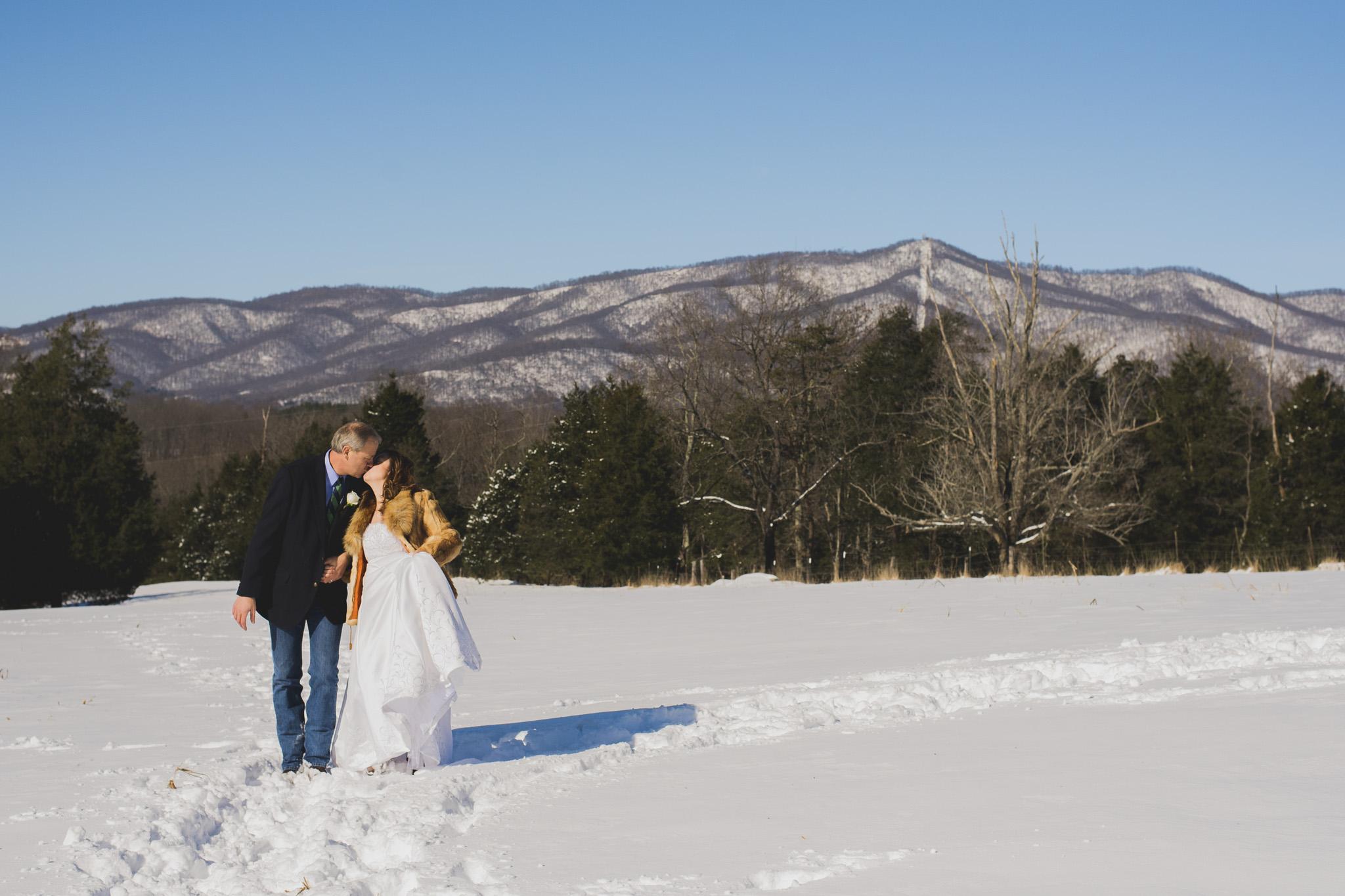 A Snow Day Elopment Lynchburg Va Blue Ridge Mountains