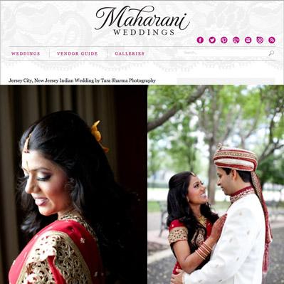 Featured on Maharani Weddings