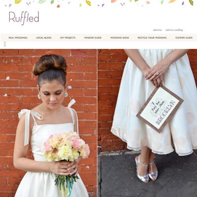 Featured on Ruffled Wedding blog