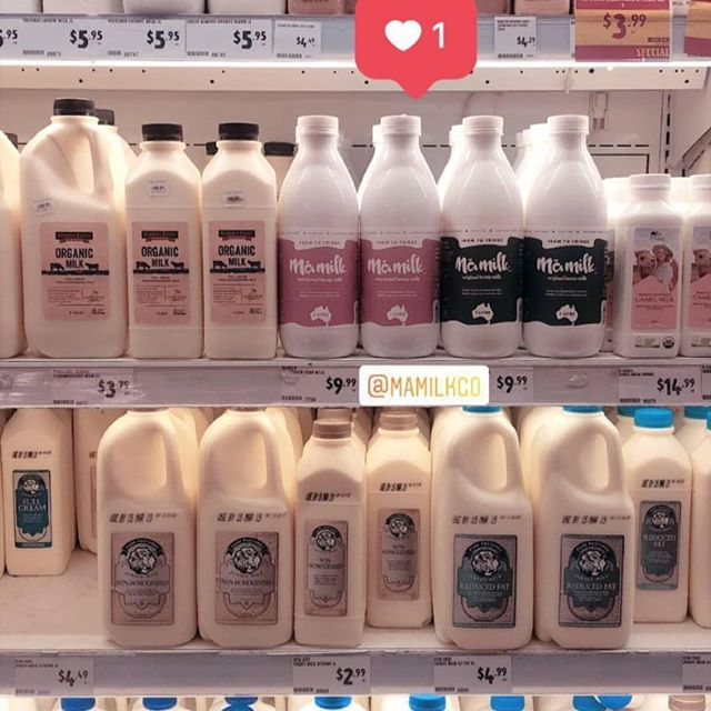 Look at this beautiful product in all its glory @harrisfarmmarkets Pride and place in the fridge. Get your @mamilkco hemp milk in all Harris Farm Stores.