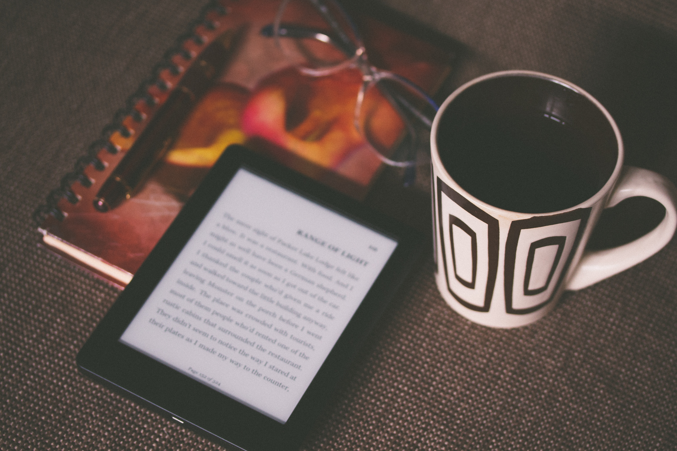 My favorite book-related purchase this year? My Kindle Paperwhite :)  Photo by Aliis Sinisalu via Unsplash.