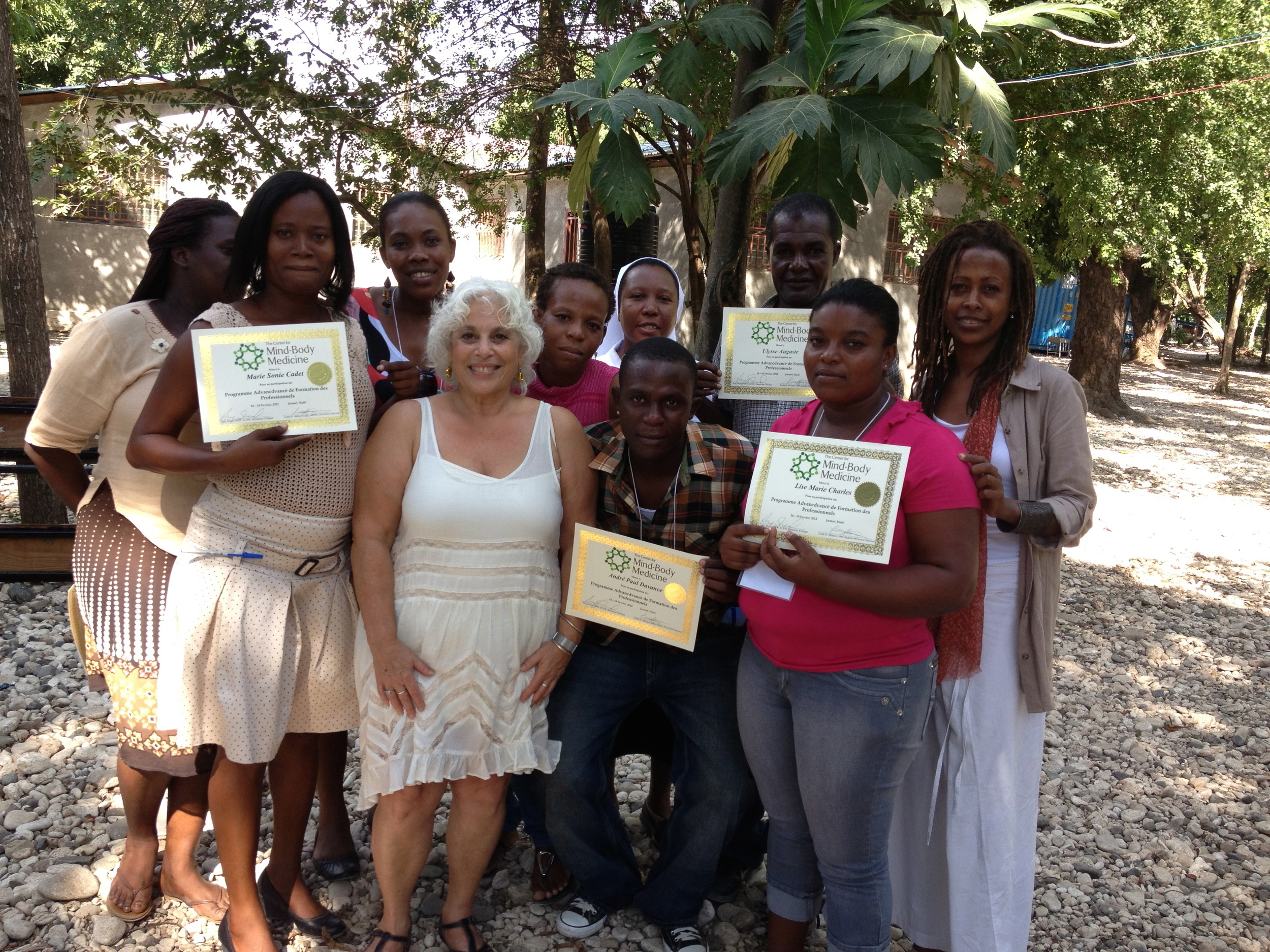 Jerrol, helping out in Haiti with her colleagues from The Center for Mind Body Medicine.