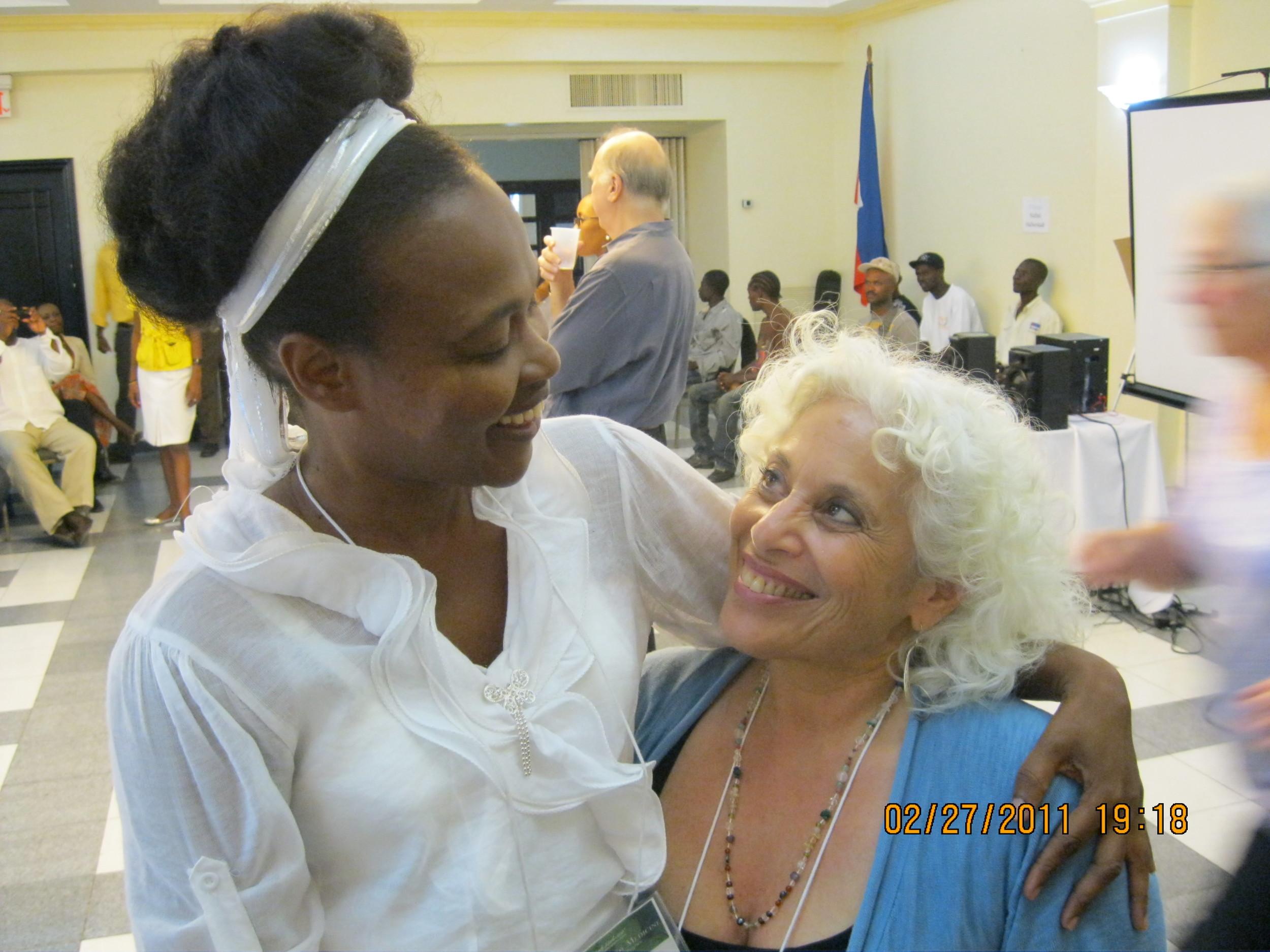 Jerrol and woman in Haiti