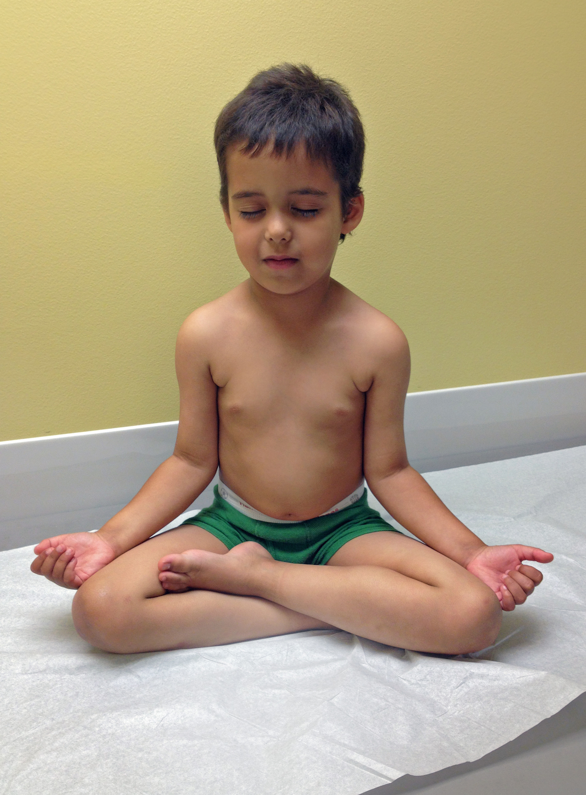 Judah using mindfulness at the Doctor's office