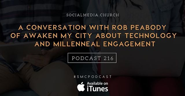 Technology & Millennial engagement - how to bridge the discipleship gap...A convo w/ @AwakenRob @NilsSmith #SMCPodcast  Link in profile.