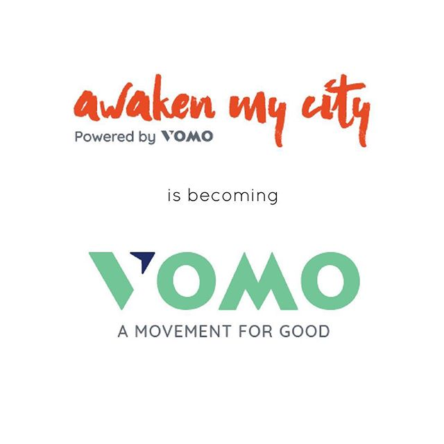 We wanted to let you all know that tomorrow (November 16th), Awaken My City will be transitioned over to @vomoapp .  Please continue to give us your love and support over on our new platform so we can continue to do good things. #MovementForGood