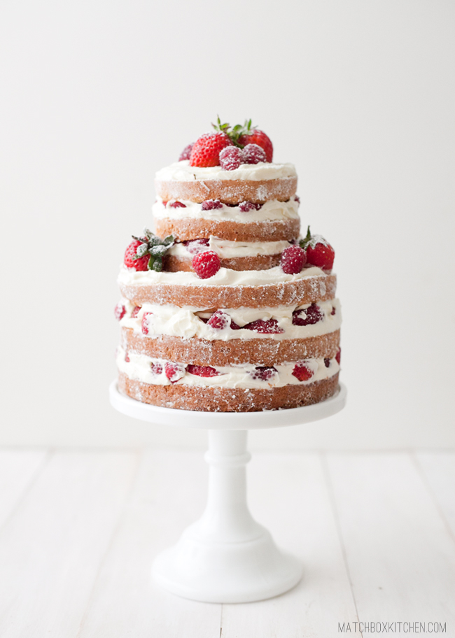 Locklane Weddings & Events, Nashville Planner | Naked Wedding Cake with Berries