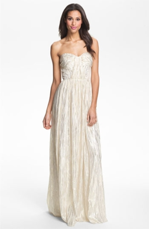 Locklane Weddings & Events | Inexpensive, Erin Fetherston Silk Metallic Gown
