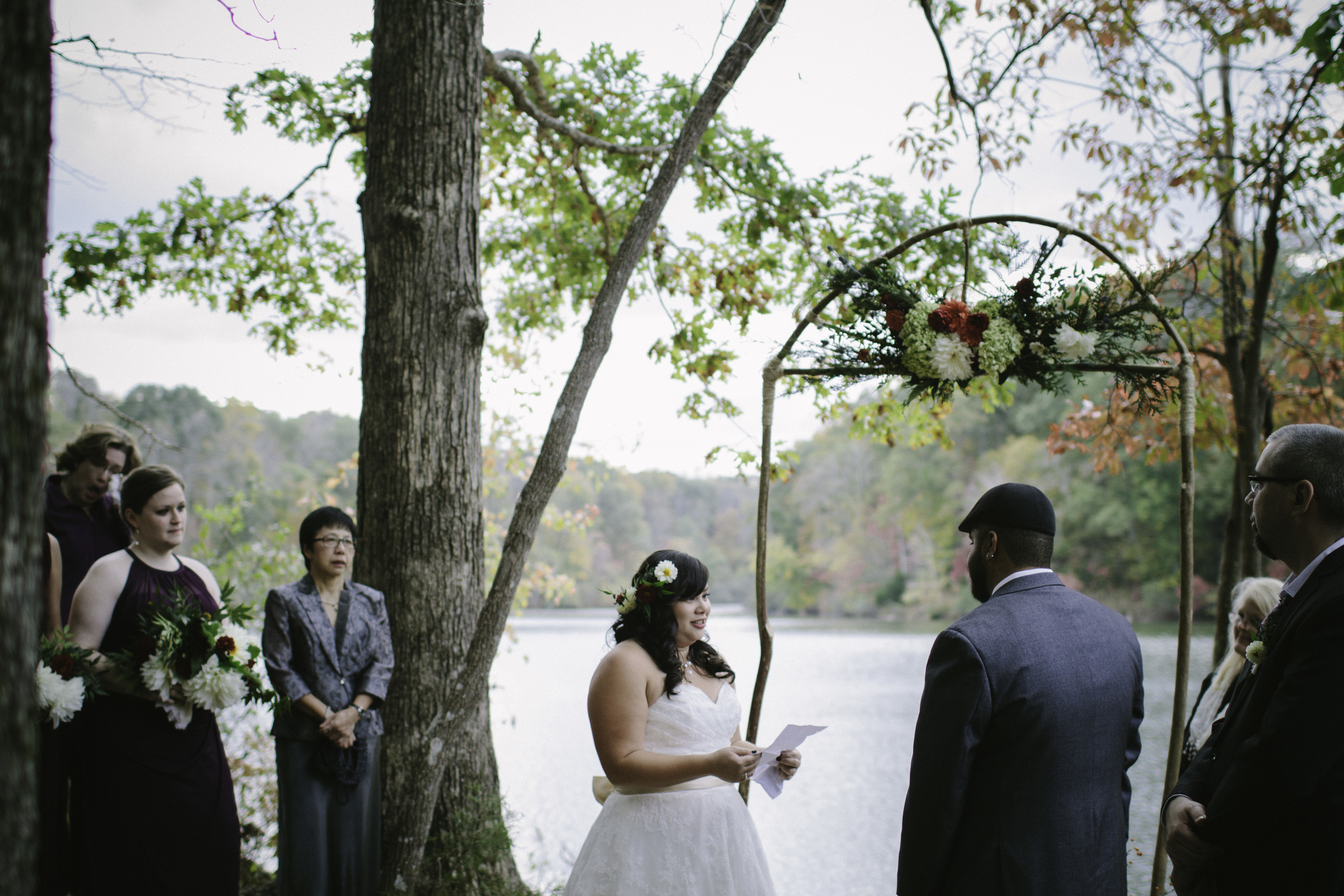 Locklane Weddings & Events, Intimate fall wedding at a Tennessee state park | Photo by Whitney Madlom