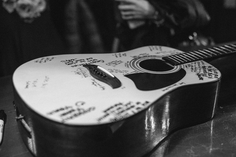 Guitar Guestbook  Masquerade,   Downtown Nashville Wedding, Locklane Weddings & Event