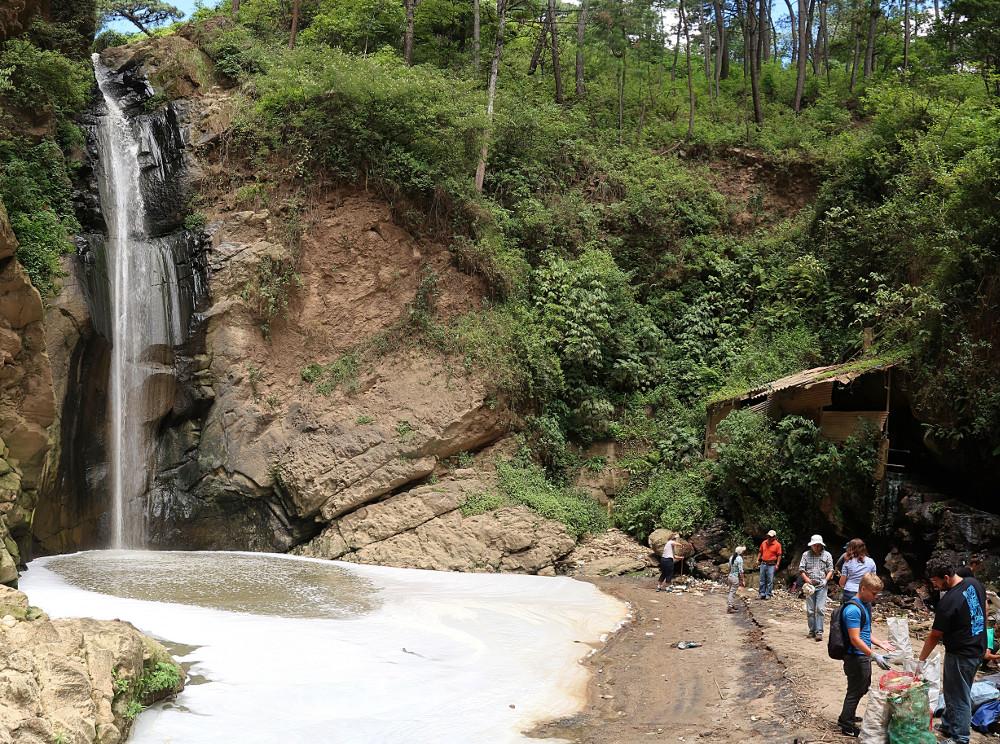 River clean up near momostenango