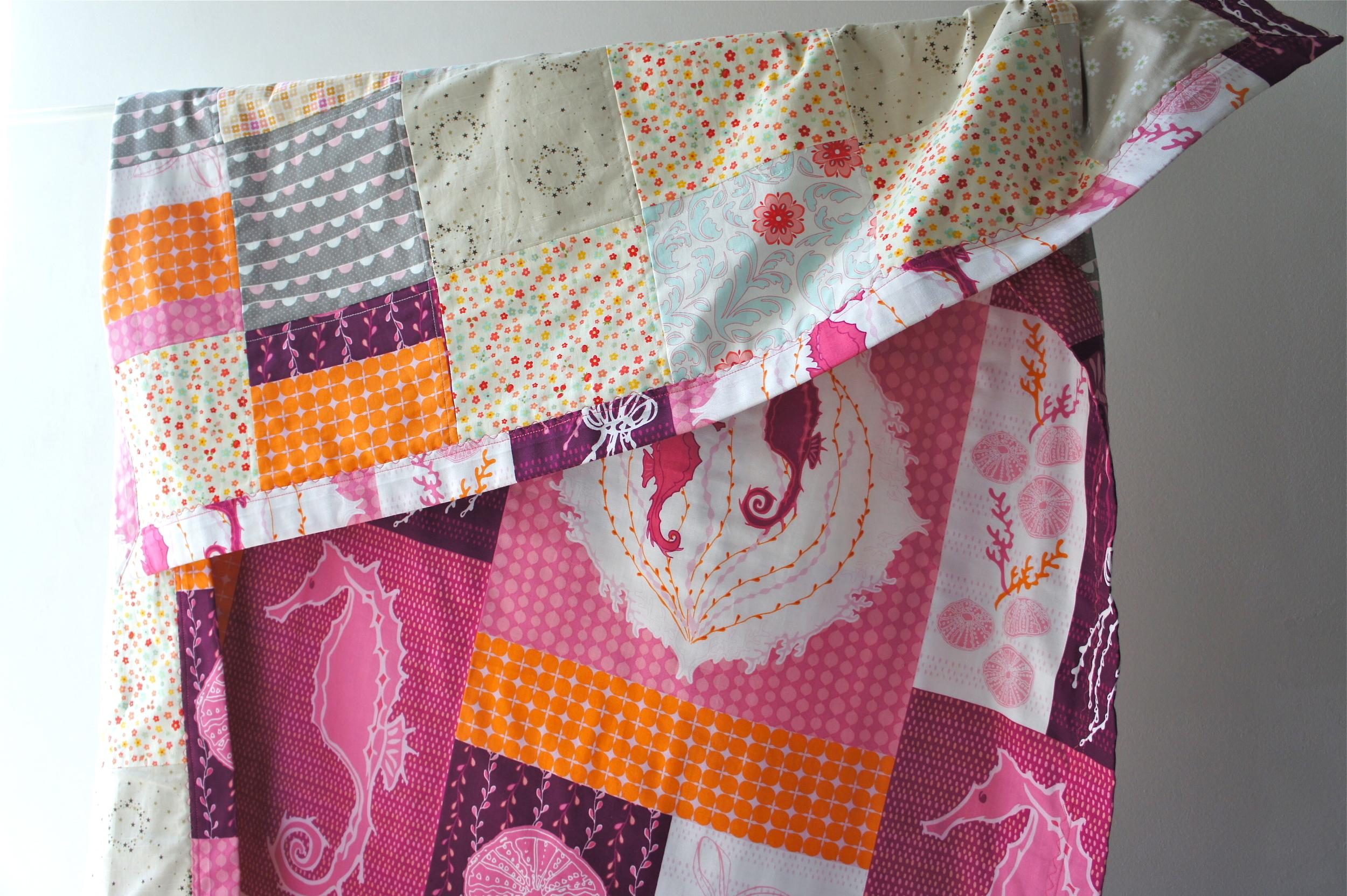 Patchwork Quilt, Seahorse