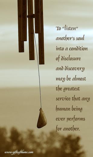 Prose by Douglas V. Steere, from  Gleanings: A Random Harvest .
