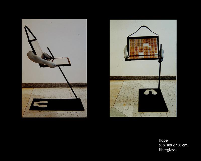 """Hope no.1""  Size: 60 x 100 x 150 cm  Medium: Fiberglass"