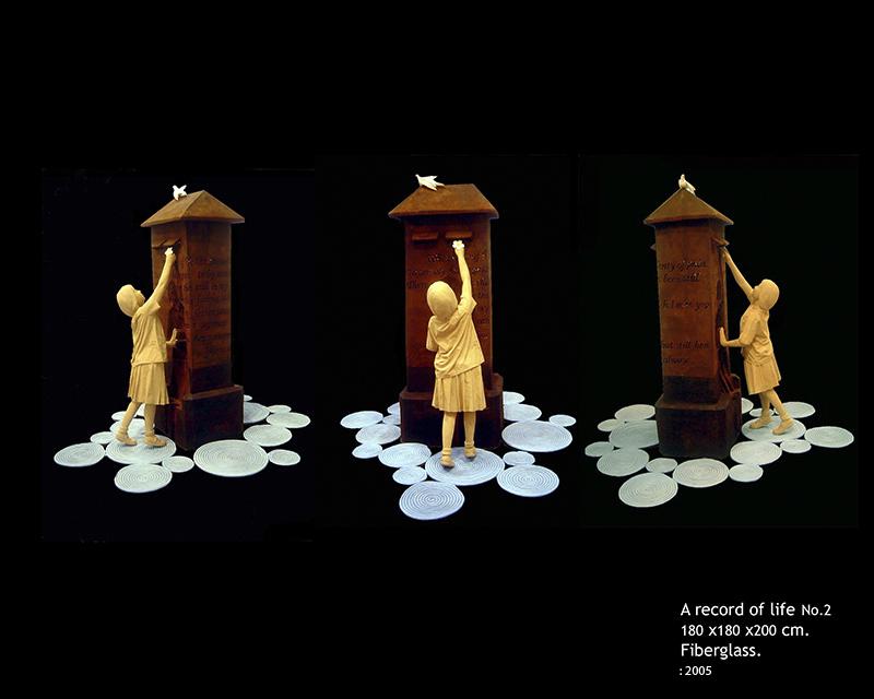 """""""A Record of Life no.2, 2005  Size: 180 x 180 x 200 cm  Medium: Fiberglass"""