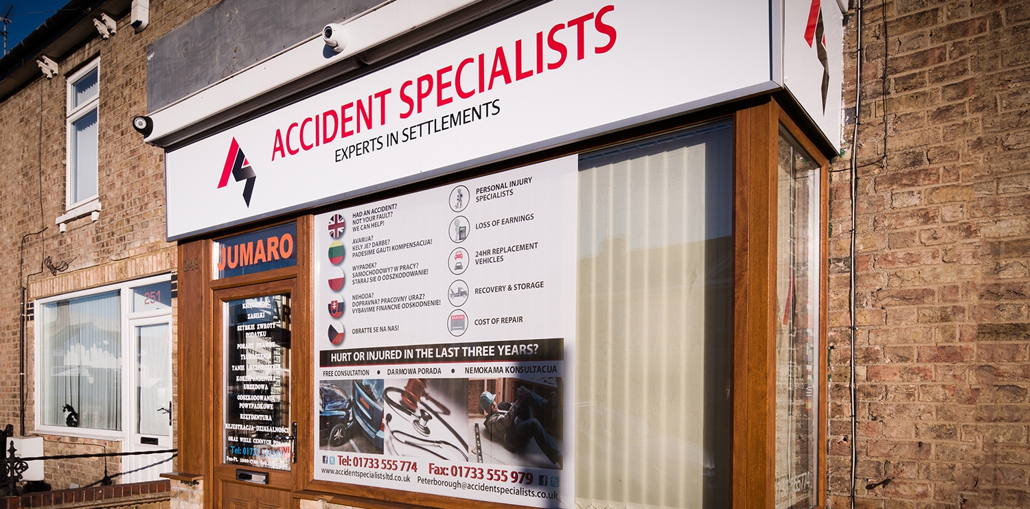 Accident Specialist is based on Lincoln Road in Peterborough