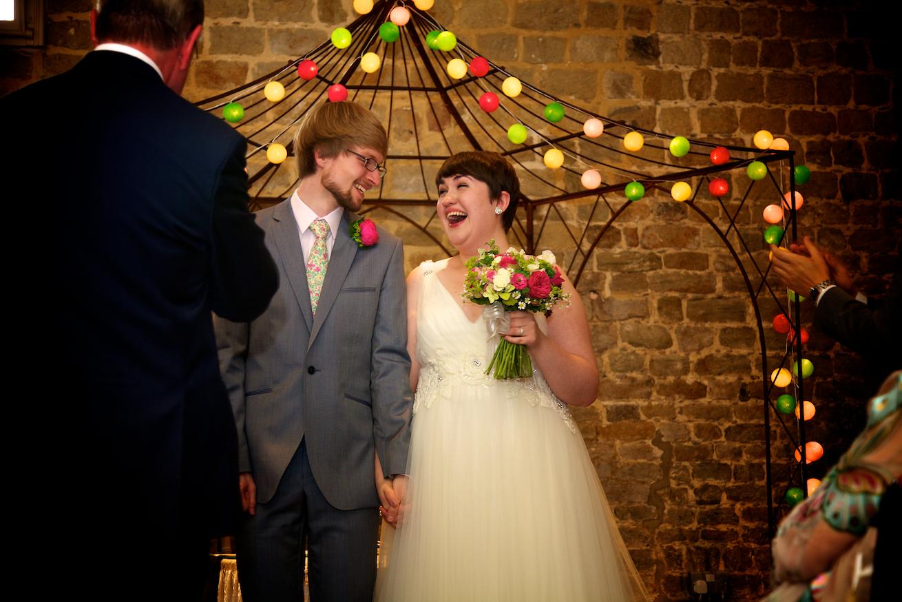 Walled garden Wedding Ceremony - Alice and Adam
