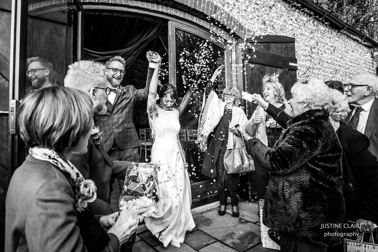 cissbury barn wedding photographer sussex confetti shot venue-1.jpg