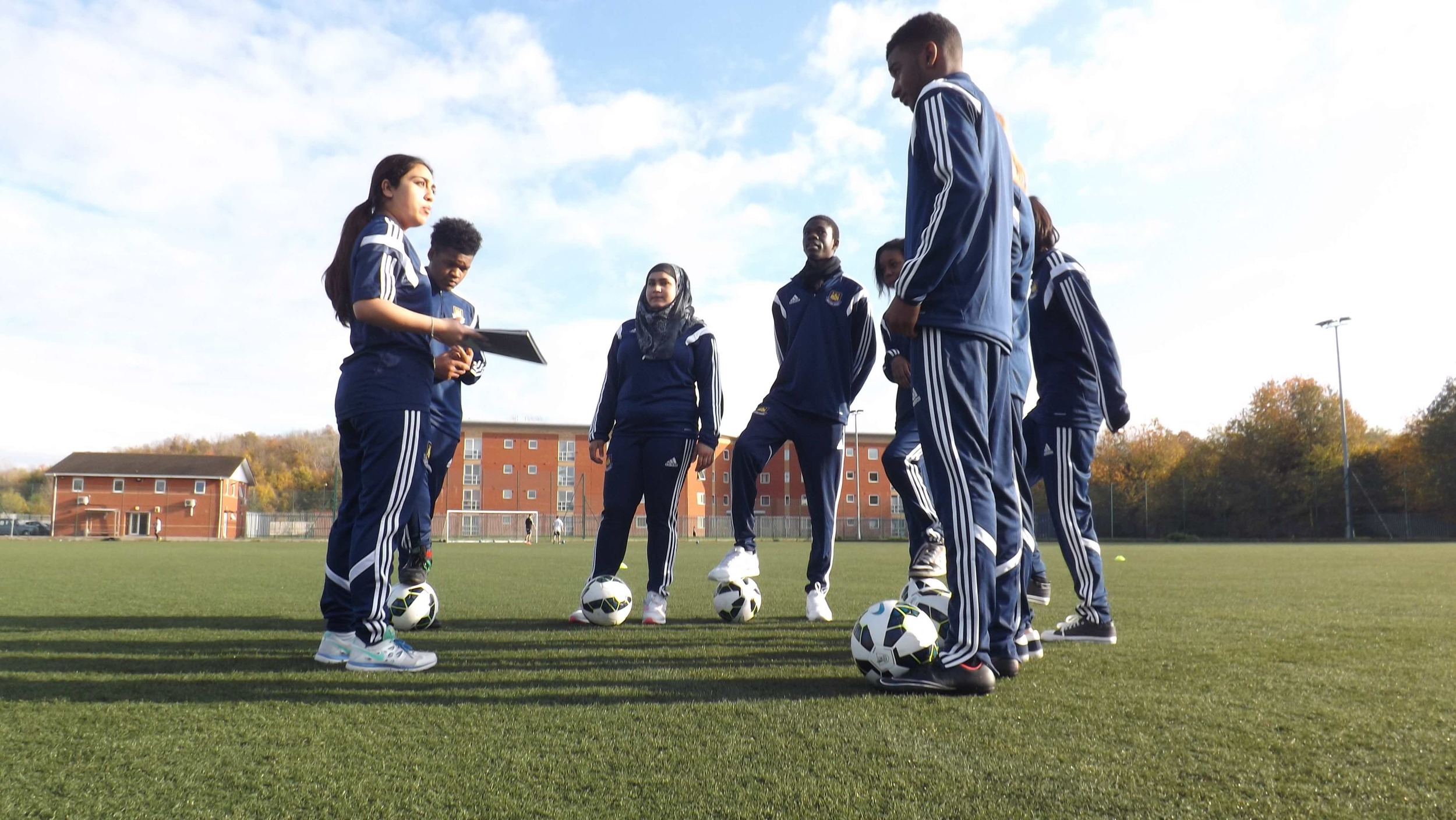 Vi-Ability learners at West Ham United Foundation
