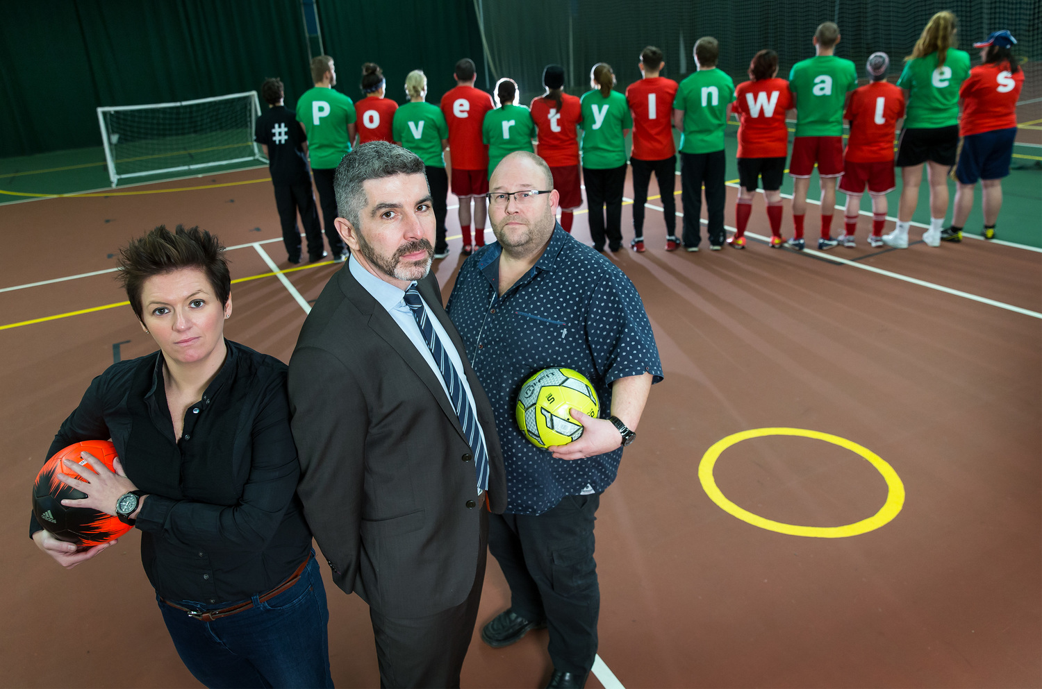 left to right: kelly davies, ceo & founder of vi-ability, derek walker ceo of wales co-operative centre and keri harris, manager of street football wales.