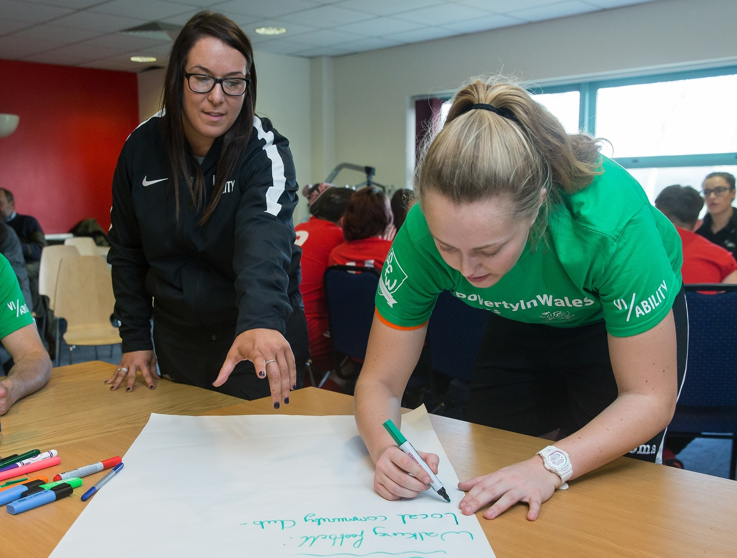 jo price, education officer delivering community engagement module of our 'run the club' programme.