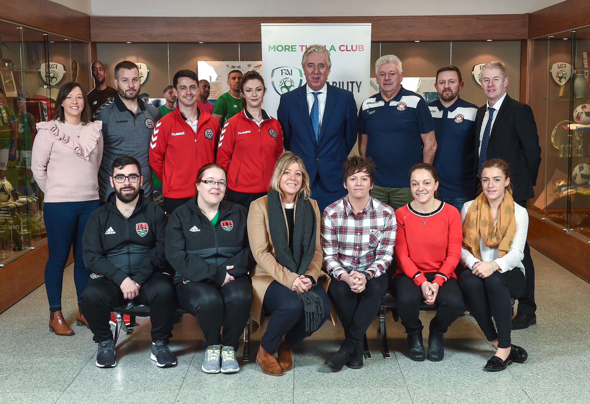 More Than a Club team at FAI HQ in Abbotstown