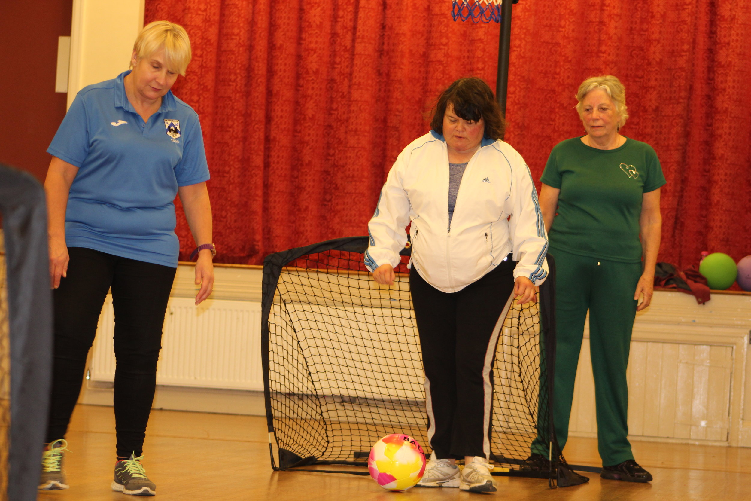 Walking Sport delivered by social enterprise 'Blue Neighbours' at Haverfordwest County AFC.
