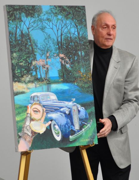 Steve Pasteiner at the poster unveiling.Image credit: DW3 Photography