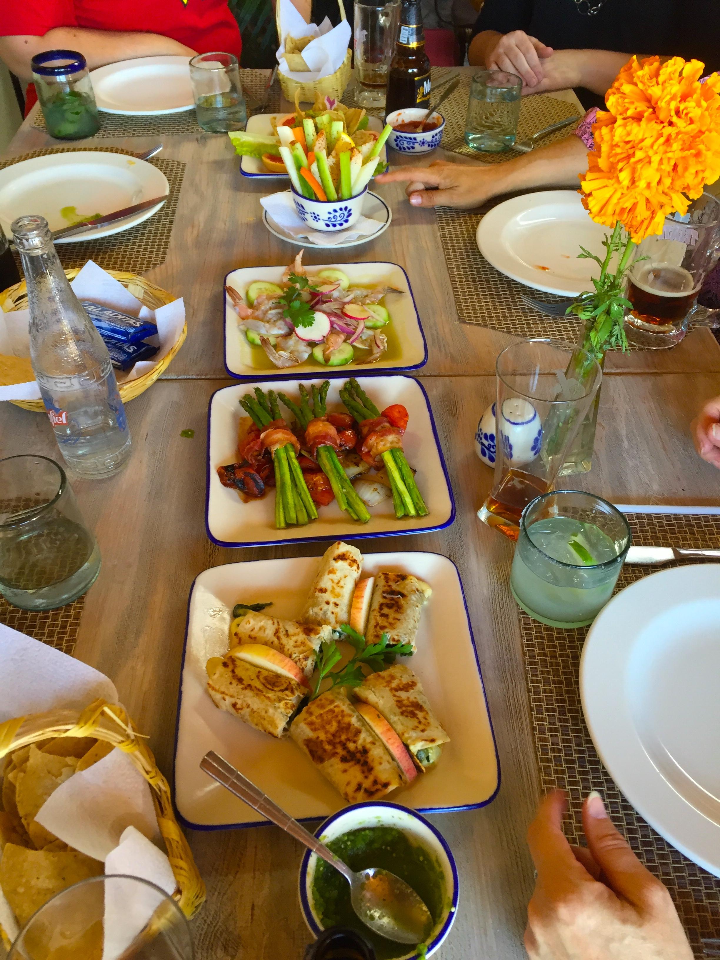 Simply delightful lunch in San Miguel de Allende