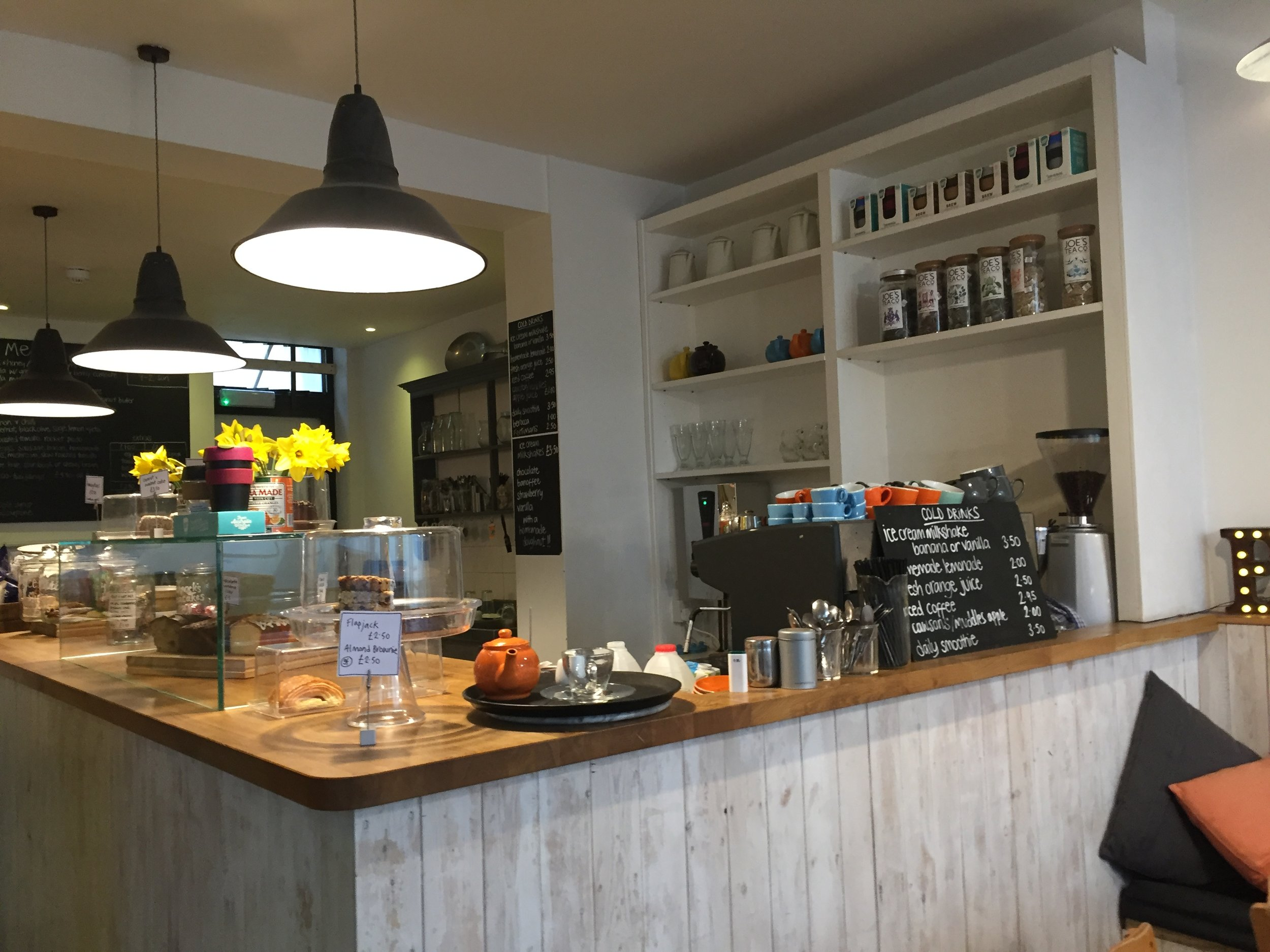 A welcoming cafe -- a clean and tidy place naturally, keeps you coming back.