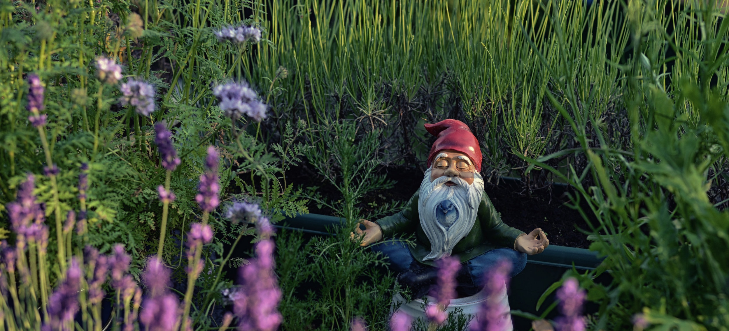Meditation is seriously helpful, and will bring a lightness of being. Like the gnome-yogi.