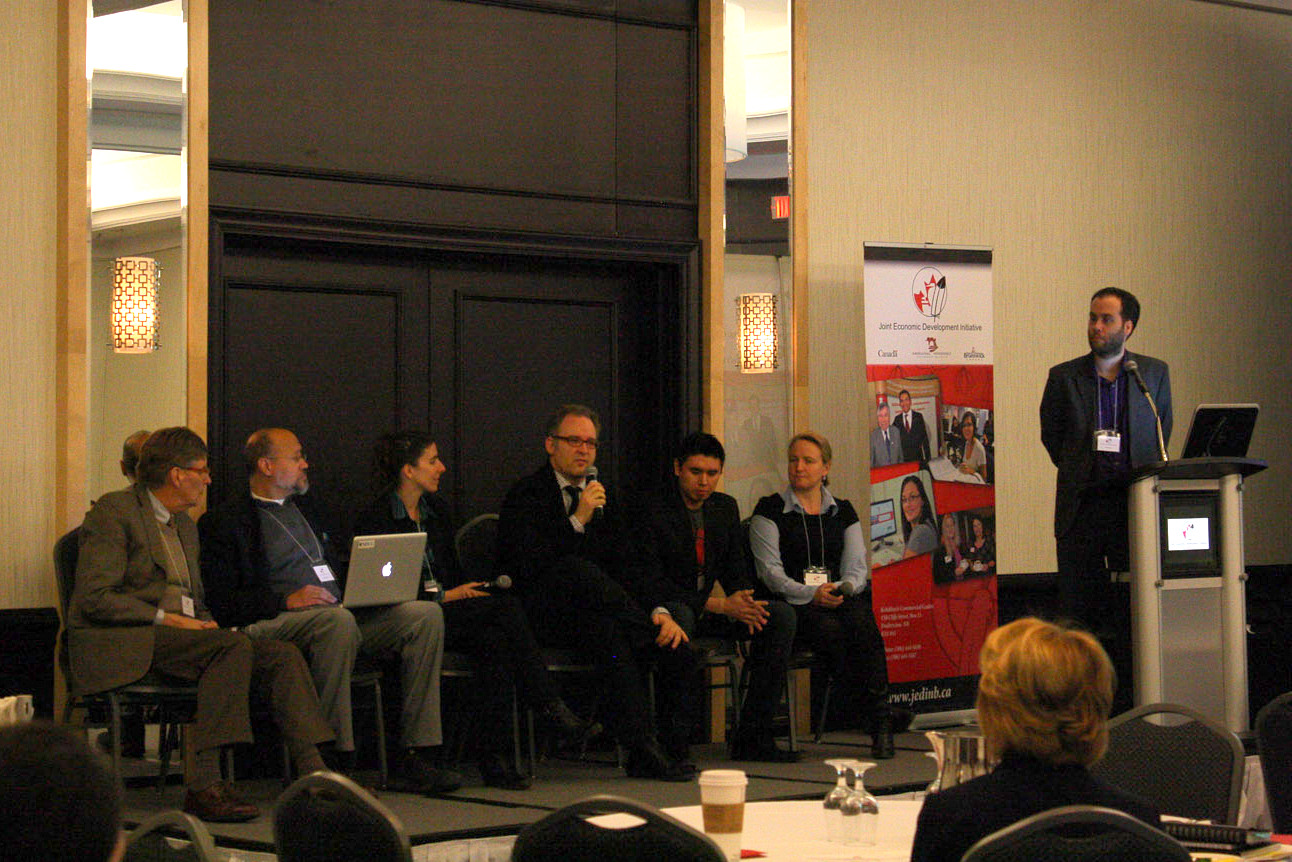 Left to Right: Johannes Larsen, Bill McIver, Nicole LeBlanc, Chet Wesley, Kendal Netmaker, Karina LeBlanc, Mark Taylor (moderator)