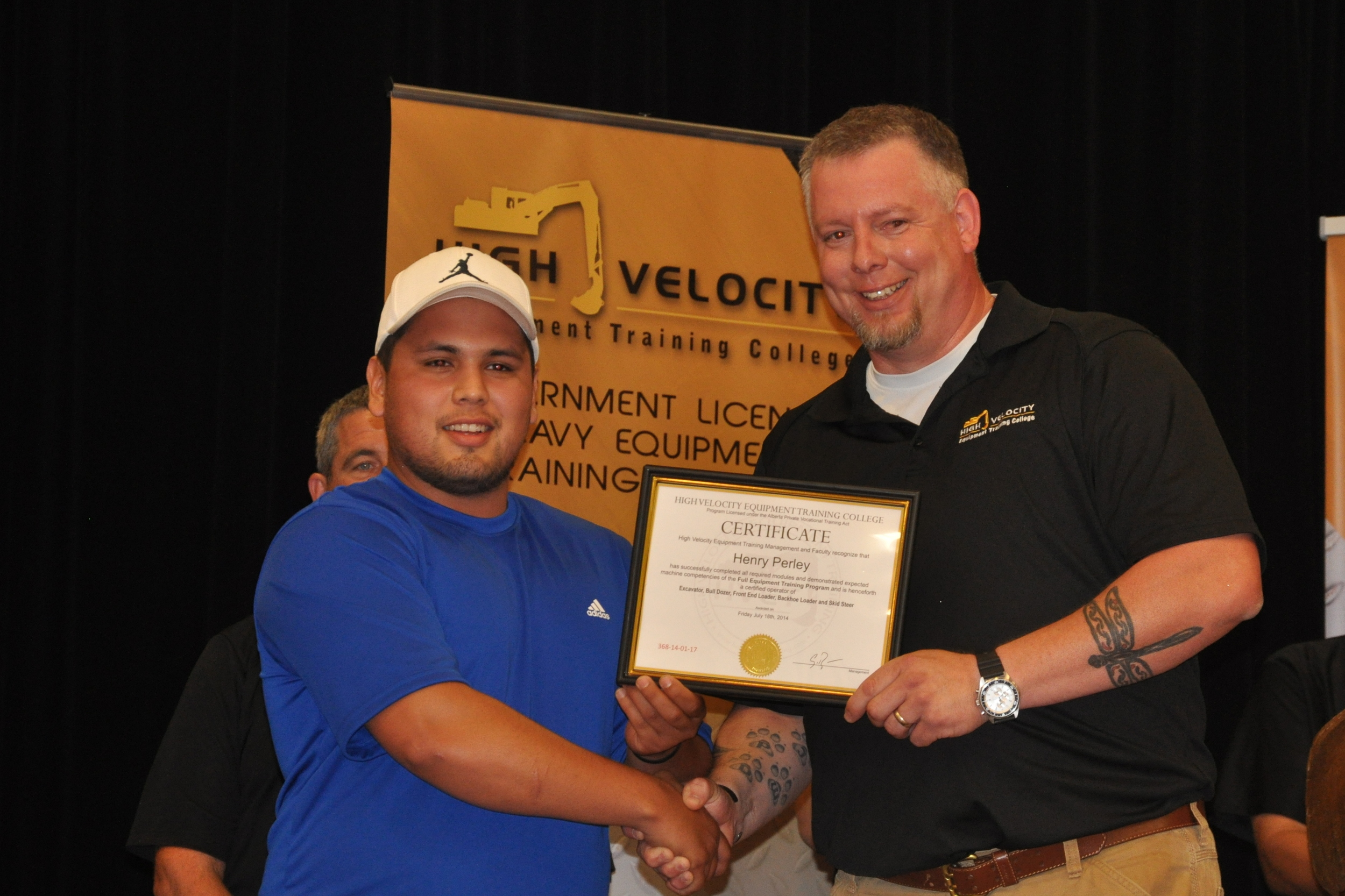 Henry Perley and John Deveau (Project Manager at HVET)
